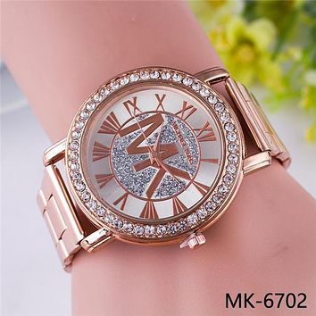 MK Hot Vintage Fashion Quartz Classic Watch Round Ladies Women Men wristwatch On Sales Jovial(With Thanksgiving&Christmas Gift Box)
