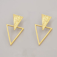 New fashion jewelry  metal with gold plated Geometric Triangle drop earring party gift for women girl E2666