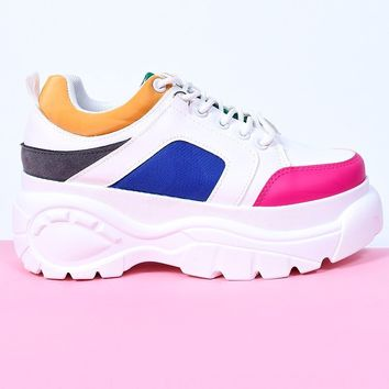 Above The Law Platform Sneaker - Multi Color