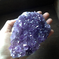 Large Amethyst Cluster - Brazil - 5 inches x 3 1/2 inches