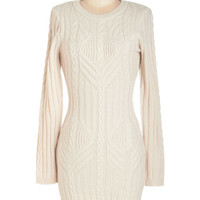 ModCloth Mid-length Long Sleeve Sweater Dress The Warm the Merrier Dress