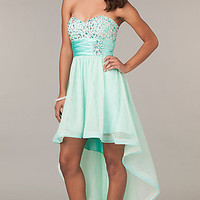 High Low Strapless Sweetheart Dress
