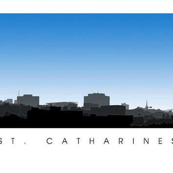 St. Catharines Skyline Print