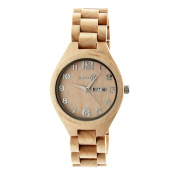 Earth Eco-Friendly Khaki/Tan Wood Sapwood Watch EW1601