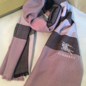 One-nice™ BURBERRY BRAND NEW SCARF FOR WOMEN CASHMERE 100% AUTHENTIC