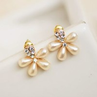 Blossom Flower Pearl Earrings - LilyFair Jewelry