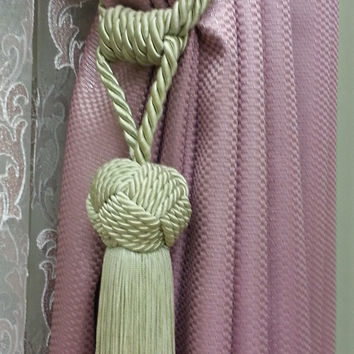 Curtain Accessories - Macrame Curtain Accessories - Beige Accessories - F713