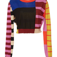 Colorblock Cropped Sweater | Moda Operandi