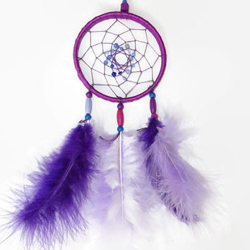 Dreamcatcher. FREE SHIPPING.Purple Dream Catcher. Native American. Small Dream Catcher. Bohemian Decor. Boho Dream Catcher.