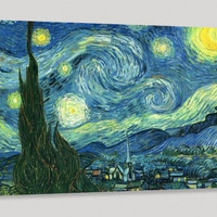 Van Gogh The Starry Night Canvas Print, Van Gogh Reproduction Print, Art Canvas Print for Wall Decoration Reproduction Canvas Printing