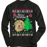 Golden Retriever Ugly Christmas Sweater