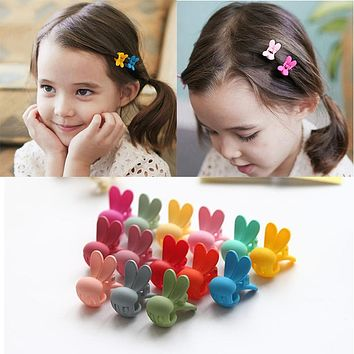 10 Pcs/Lot 2017 New Rabbit Baby Kids Hair Clips Hair Claws Lovely For Child Cute Hair Accessories Fashion For Student Headwear