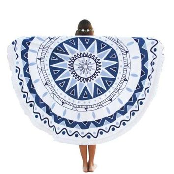 ESBU3C Newly High Quality Round Hippie Tapestry Beach Throw Roundie Mandala Towel Yoga Mat Bohemian Cotton Wall Hanging Free Size Nov3e