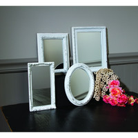 VINTAGE FRAMED MIRRORS 4 ASSORTED