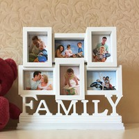 European style creative children's photo frame Modern family combination photo frame creative white picture frame free shipping