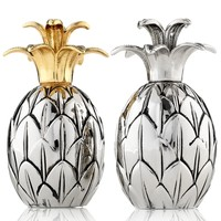 Godinger Salt and Pepper Shakers, Pineapple
