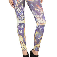 Doctor Who Van Gogh TARDIS Leggings