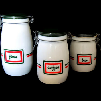 Vintage Wheaton Canister Set 1970s Decor