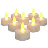 Inglow CG10026WH8 Flameless Tea Light Candle, White, 8-Pack