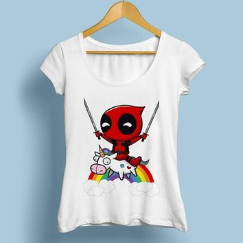 Deadpool Dead pool Taco  RIDING horse toy FUNNY t shirt WOMEN JOLLYPEACH BRAND NEW white casual Tee shirt femme RAINBOW fashion tshirt AT_70_6