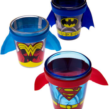 Superhero Caped Shot Glasses (3-Pack)
