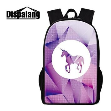 School Backpack trendy Dispalang Cute Unicorn Pattern  for Children Girls Personalized Schoolbag Fashion Bookbag Boys Rucksack Mochilas AT_54_4
