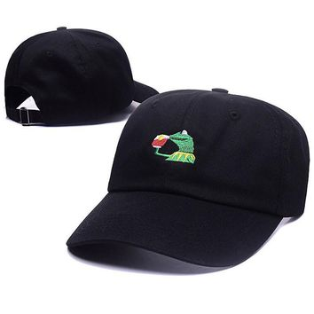 Kermit None Of My Business Unstructured Dad Baseball Cap Frog Tea Lebron James New Embroidery Kenye West Ye Bear Big Daddy Hats
