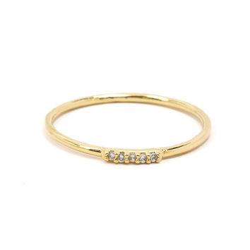 Dainty Jeweled Ring