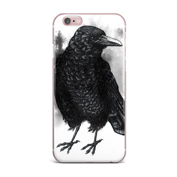 "Sophy Tuttle ""Crow"" Black White iPhone Case"
