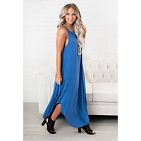 Coast To Coast Basic Dress (Snorkel Blue)