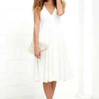 Of My Dreams Ivory Midi Dress
