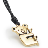 Koala Bear Handmade Brass Necklace Pendant Jewelry