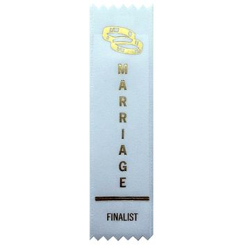 Marriage Finalist Award Ribbon on Gift Card