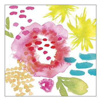 Bright Watercolor Floral Napkins