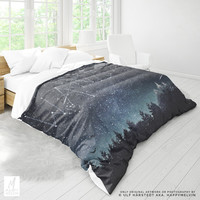 Wanderlust Forest Duvet Cover | Wanderlust Bed Linen | Starry Bedding | Boho Artwork | Bohemian Bedroom| Adventure Duvets | Unique Gifts