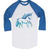 Unicorn Blue and White