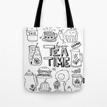 Forever Tea Time 1 Tote Bag by Shashira Handmaker