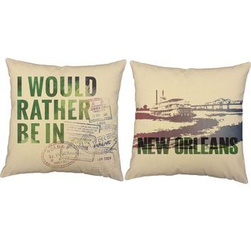 Rather Be In New Orleans Throw Pillows