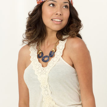 Lace strap crop top by Kimchi Blue