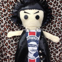Sid Vicious inspired - My T-Shirt Buddy Doll