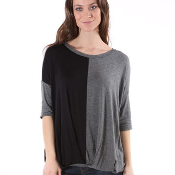 Colorblock Slouch Top