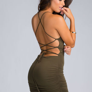 Showy Curves Lace-Up Dress GoJane.com