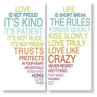 One Kings Lane - Refresh the Family Wall - Love Is & Life Is III, Set of Two Prints