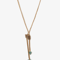 Lacquered Arrow Charm Necklace