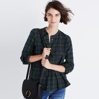 Market Popover Shirt in Dark Plaid : shopmadewell button-up & popover shirts   Madewell