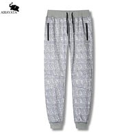 Men Fashion Sweatpants With Side Zipper Pocket And Elastic Waist Fit Pants For Men Fleece Fashion Sweatpants