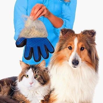Pet Dog Hair Brush Glove Comb For Pet Cleaning Massage Grooming Supply Finger True Touch Pet Cats Hair Brush Gentle Efficient 05