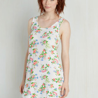 Sleeveless Drift Off to Sweet Nightgown in Floral
