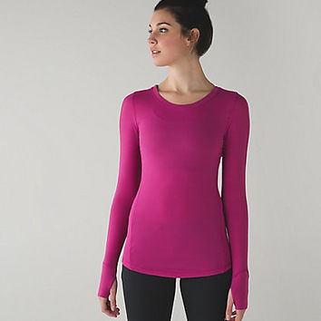 Lu lu Lemon Long Sleeve Top Berry Athleisure Clothing Womens Active Wear Yoga and Running Fitness Tops!