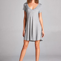 Easy Like Sunday Morning Dress - Grey